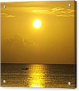 Golden Bahamas Sunset Acrylic Print