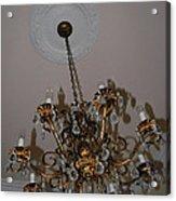 Golden Chandelier Acrylic Print