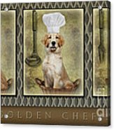 Golden Chef's Acrylic Print