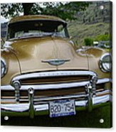 Golden Chevy Acrylic Print