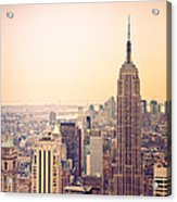 Golden City Of New York Acrylic Print