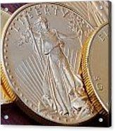 Golden Coins II Acrylic Print