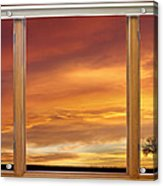 Golden Country Sunrise Window View Acrylic Print by James BO  Insogna