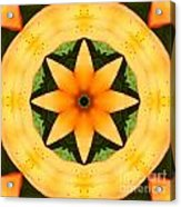 Golden Flower 2 Acrylic Print