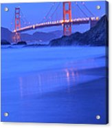 Golden Gate At Dusk Portrait Acrylic Print