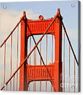 Golden Gate Bridge - Nothing Equals Its Majesty Acrylic Print