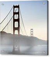 Golden Gate Bridge In Fog Acrylic Print