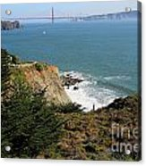 Golden Gate Bridge Viewed From The Marin Headlands Acrylic Print by Wingsdomain Art and Photography