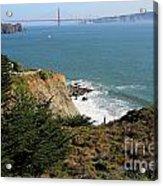Golden Gate Bridge Viewed From The Marin Headlands Acrylic Print