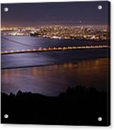 Golden Gate Bridge With Moonlit Reflections Acrylic Print