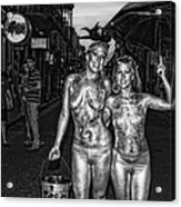 Golden Girls Of Bourbon Street - Black And White Acrylic Print