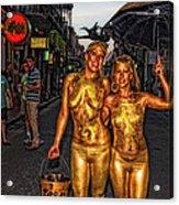 Golden Girls Of Bourbon Street  Acrylic Print