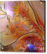 Golden Glass Waves Acrylic Print