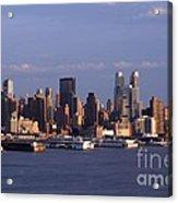 Golden Glow Of New York City Acrylic Print