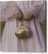 Golden Handbag Acrylic Print