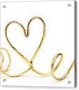 Golden Heart Acrylic Print