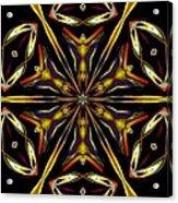 Golden Kaleidoscope Acrylic Print