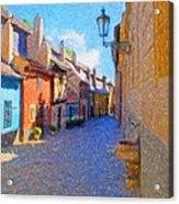 Golden Lane Acrylic Print