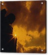 Golden Light Silhouette Acrylic Print