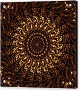Golden Mandala 3 Acrylic Print