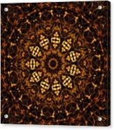Golden Mandala 6 Acrylic Print
