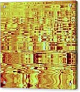 Golden Ripples Abstract Acrylic Print
