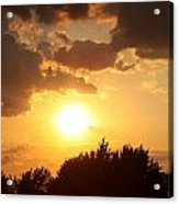 Golden Sky Over Genesee Acrylic Print