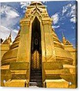 Golden Stupa Front View Bangkok Acrylic Print
