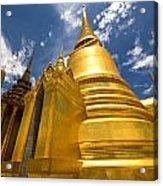 Golden Stupa In Grand Palace Bangkok Acrylic Print