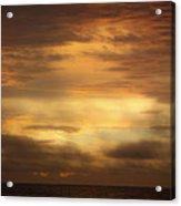 Golden Sunrise Squared Acrylic Print