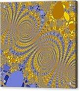 Golden Vortices Acrylic Print