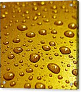 Golden Water Drops. Business Card. Invitation Etc. Acrylic Print