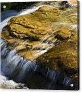Golden Waterfall Glacier National Park Acrylic Print