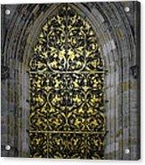 Golden Window - St Vitus Cathedral Prague Acrylic Print