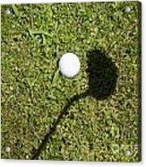 Golf Ball And Shadow Acrylic Print