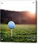Golf Ball Acrylic Print