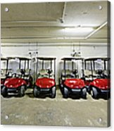 Golf Cart Parking Garage Acrylic Print