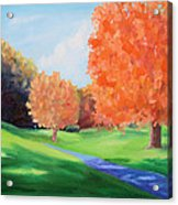 Golf Course In The Fall 1 Acrylic Print