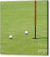 Golf Pin Acrylic Print