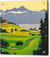 Golfing In Lausanne Acrylic Print