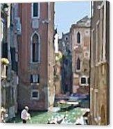 Gondola Painting Acrylic Print