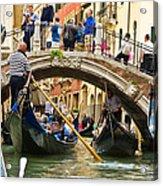 Gondolas Galore Acrylic Print
