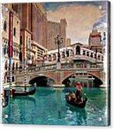 Gondolas On The Canal - Impressions Acrylic Print