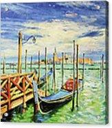 Gondolla Venice Acrylic Print