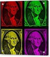 Gorge Washington In Colors Acrylic Print
