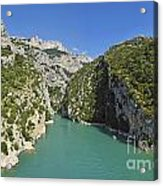 Gorges Du Verdon River From Sainte-croix Lake Acrylic Print