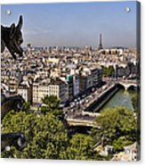 Gorgyle View Of Paris Acrylic Print