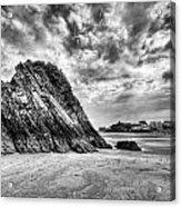 Goscar Rock Tenby 2 Mono Acrylic Print