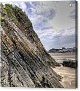 Goscar Rock Tenby 3 Acrylic Print