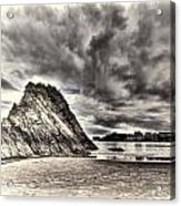 Goscar Rock Tenby Cream Acrylic Print